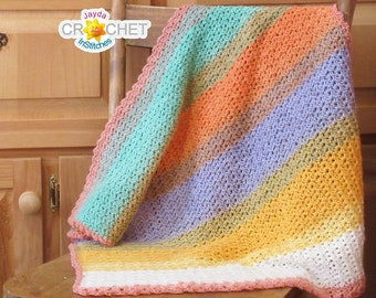 Pixie Baby Blanket - Crochet PATTERN PDF - Easy Pattern - Jayda InStitches