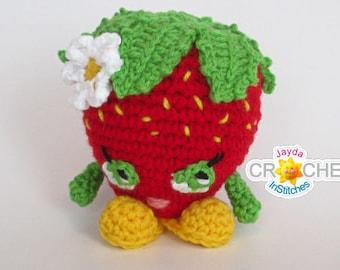 Cheery Cheesecake Crochet Pattern Stuffed Toy Play Food PDF