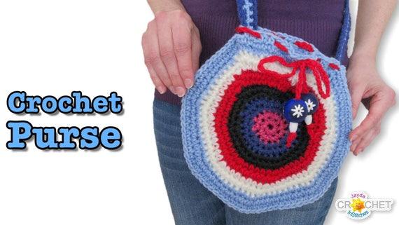 Crochet Purse Pattern Pdf Round Bohemian Style Jayda