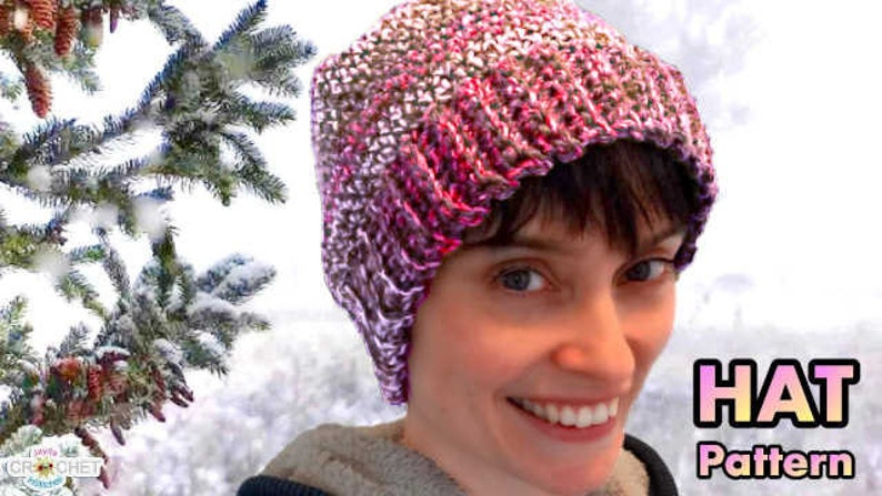 Slouchy Hat Crochet Pattern  Easy Perfect Fit for the Whole image 0