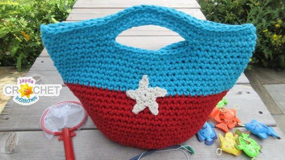 Childrens Toy Tote Bag Crochet Pattern Pdf Back To Etsy