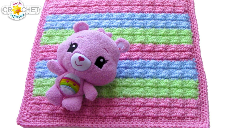 Bobble Stitch Baby Blanket Or Doll Blanket Crochet Pattern Etsy