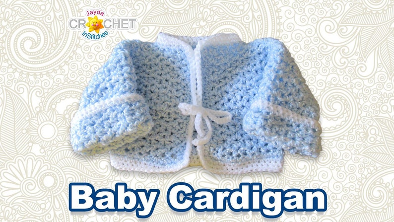 Baby's First Cardigan  Crochet Pattern  Newborn to 6 image 0