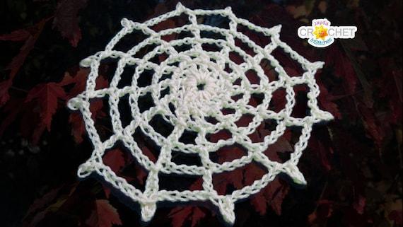 Crochet Spider Web Pdf Pattern Lace Doily Applique Or Etsy