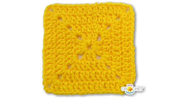 Solid Double Crochet Granny Square Pattern Pdf Easy Beginner Crochet Blanket Building Pattern Jayda Institches