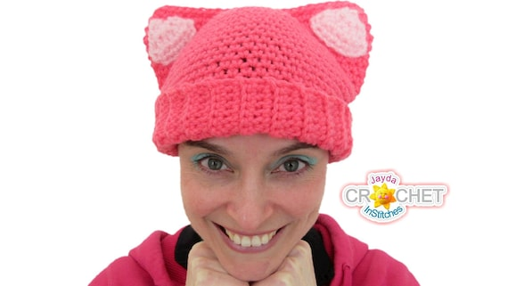 Cat Ear Hat Crochet Pattern Pdf For Babies Toddlers Etsy