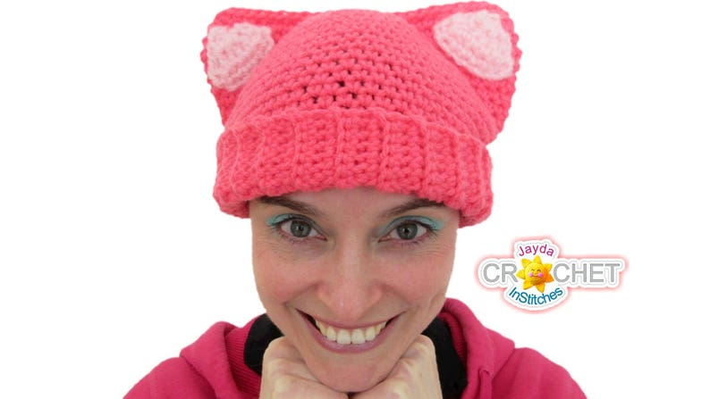 Cat Ear Hat  Crochet PATTERN PDF  For Babies Toddlers image 0