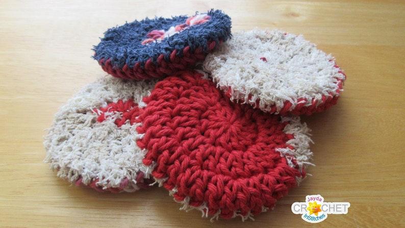 Little Pot Scrubber Crochet Pattern Pdf Double Thickness Etsy