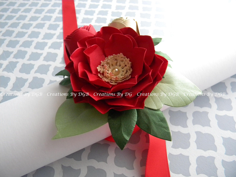 Paper Flower Corsage Wedding Wrist Corsage Bridesmaids Etsy