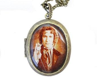 Doctor Who Paul McGann Locket & Gift bag - Steampunk Jewellery