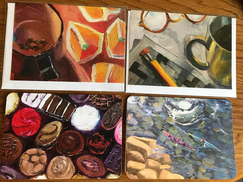 Blank Cards Art Notecard Sampler Original Art Notecards Art