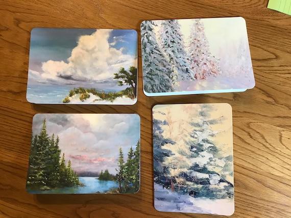 Blank Cards, Art Notecard Sampler, Landscape Cards, Original Art Notecards, Art Stationary, Greeting Cards, Painting Cards