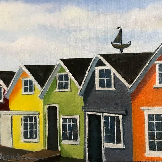 Boathouse, boathouses painting, Plein air, thousand islands, paint on thousand islands, River painting