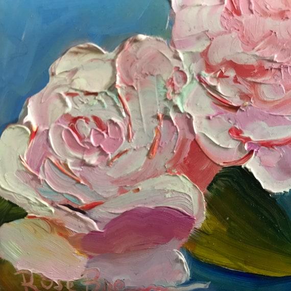 pink flowers, pink roses, rose painting, summer flowers