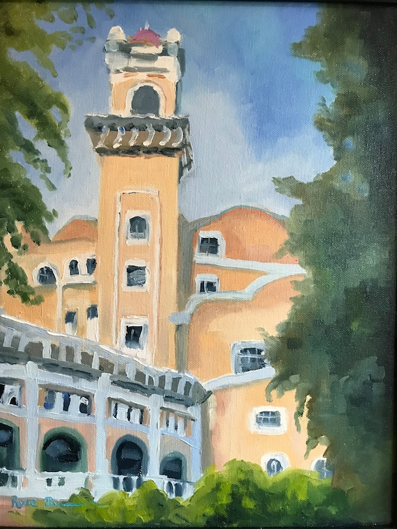 City painting, French Lick resort, west Baden indiana, Indiana Landscape