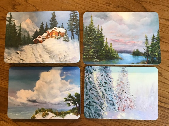 Blank Cards, Art Notecard Sampler, Landscape Cards, Original Art Notecards, Art Stationary, Greeting Cards, Painting Cards