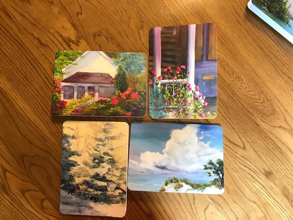 Blank Cards, Art Notecard Sampler, Bloomington Indiana, Original Art Notecards, Art Stationary, Greeting Cards, Painting Cards