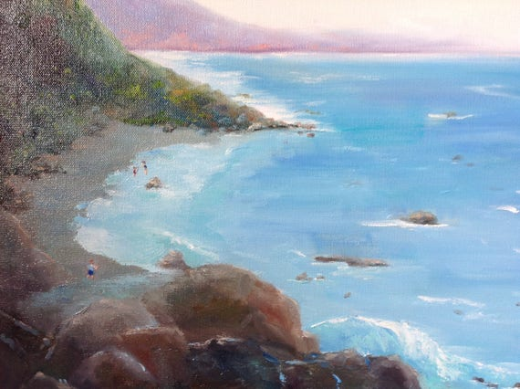 Ocean Painting, Oregon Painting, Ocean View Painting, Beach Art, Seascape, Ocean Painting