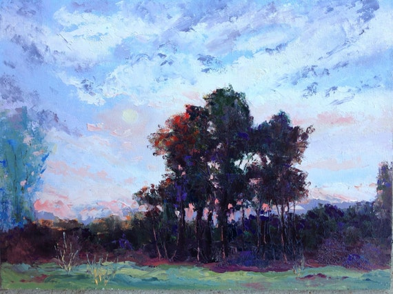 Big Sky, Plein Air Painting, T C Steele, Landscape Painting, Rustic Country Painting