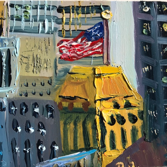 Cityscape, Boston downtown, Miniatures, Small Art