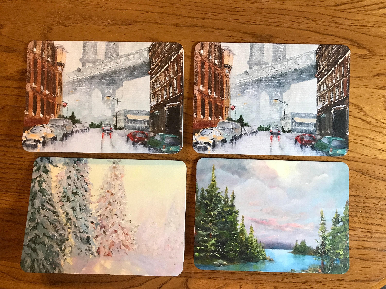 Blank Cards Brooklyn Bridge Art Notecard Sampler Landscape Cards