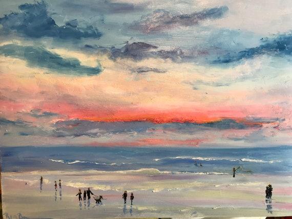 Beach Art, Ocean Seascape Painting, Vacation Painting, Beach painting