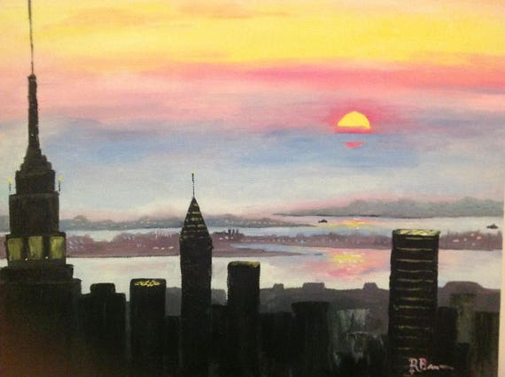 NYC, New York Skyline, Sunrise over New York