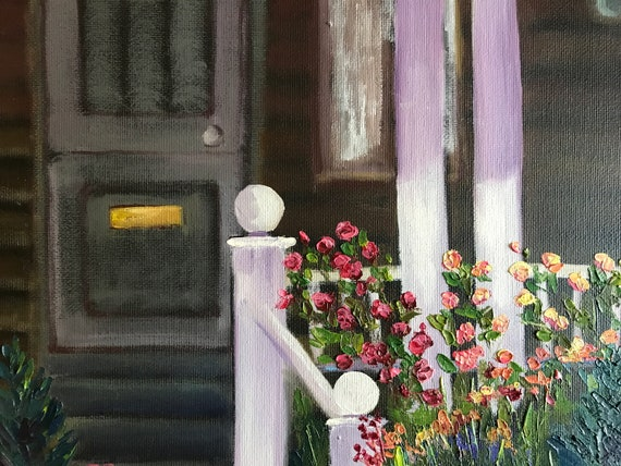 Summer Flowers, Small Painting, Flower Painting, Porch, Small Art