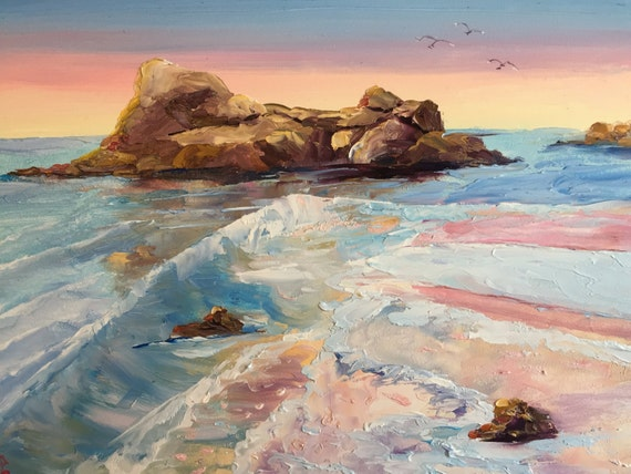 Ocean Painting, Oregon Painting, Canon Beach vacation, Mini painting