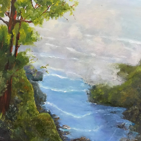 Ocean Painting, Cape Perpetua, Extra Large Painting, Oregon Canvas Painting, Beach Painting