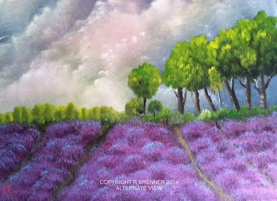 Lavender Painting, landscape painting, flower painting, lavender painting