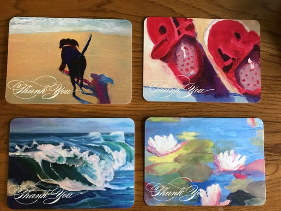 Art Notecard Sampler, Blank Card, Original Art Notecards, Art Stationary, Greeting Cards, Painting Cards