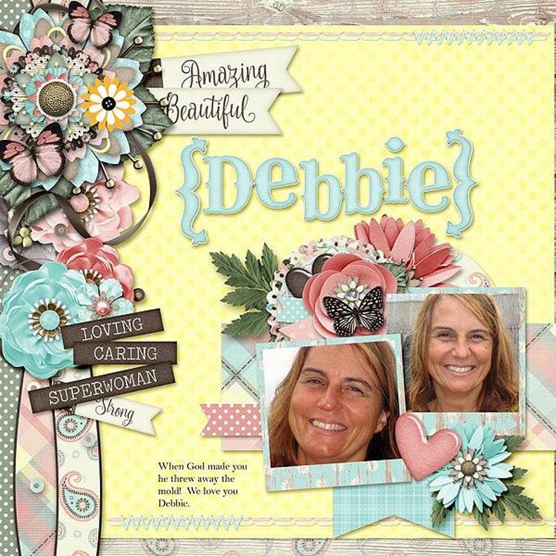 Mom Digital Scrapbook Kit for Digital Scrapbooking Mother/'s Day