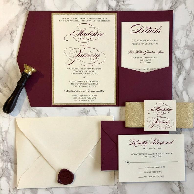Undangan Pernikahan Burgundy