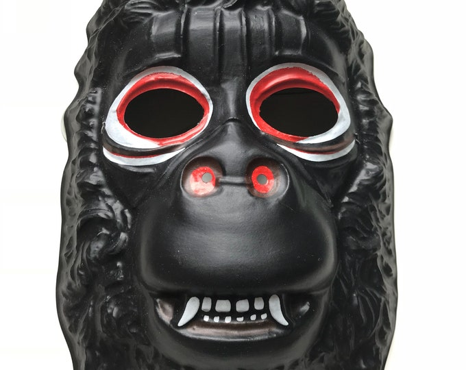 Featured listing image: 80s Mask, King Kong, Ben Cooper, King Kong Mask, Gorilla, Costume Mask, 1980s, Halloween, Dress Up, Cool Mask, 1982, Ape