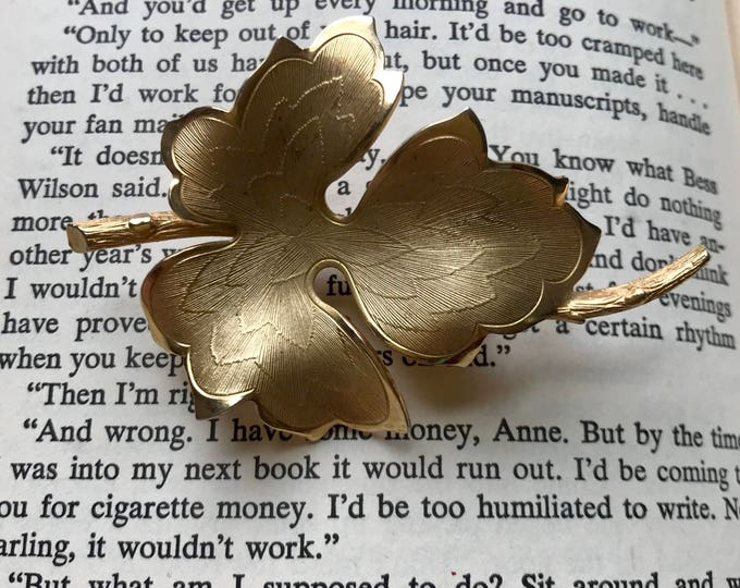 Featured listing image: 60s Leaf Brooch, Leaf Pin, Gold Pin, Metal, 1960s, Vintage Brooch, Broach, Vintage Pin, Golden Leaf, Leaf Pin, 60s Pin, 60s Brooch