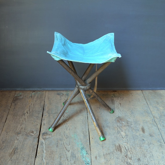 Astonishing Vintage Camp Stool Fold A Way Portable Backpacking Gear Canvas And Wood Outdoor Furniture Rustic Seating Spiritservingveterans Wood Chair Design Ideas Spiritservingveteransorg