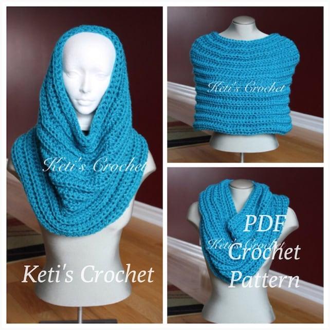 Crochet Capelet Patterncrochet Cowl Patterncrochet Poncho Etsy
