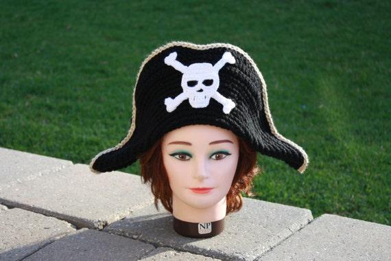 Häkeln Sie Muster: Erwachsene Piratenhut Piraten Hut | Etsy