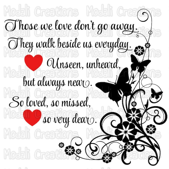 Those We Love Don T Go Away Svg Etsy