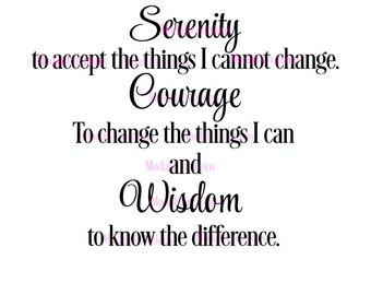 Serenity Prayer SVG Only