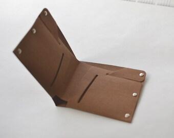 Mens Washable Kraft Paper Wallet handmade wallet Thin Slim Bifold Billfold Minimalist wallet billfold