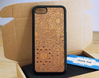 Mandalas- iPhone 5s case - iPhone 5 Case - Wood iPhone 5s Case - wooden iphone 5 case - Cherry/ Walnut / Rosewood