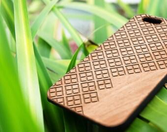 Farm Field- Personalization - iPhone SE case - iPhone 7 Case - Wood iPhone 6S Case - wooden iphone 6 case - Cherry/Walnut/Rosewood