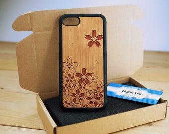 Sakura - iPhone 5s case - iPhone 5 Case - Wood iPhone 5s Case - wooden iphone 5 case - Cherry/ Walnut / Rosewood