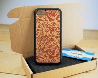 Rose- iPhone 5s case - iPhone 5 Case - Wood iPhone 5s Case - wooden iphone 5 case - Cherry/ Walnut / Rosewood