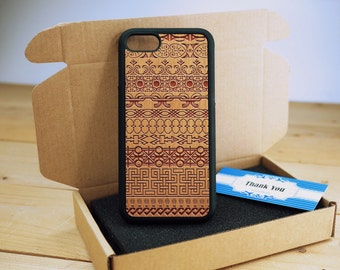 Totem - iPhone 5s case - iPhone 5 Case - Wood iPhone 5s Case - wooden iphone 5 case - Cherry/ Walnut / Rosewood