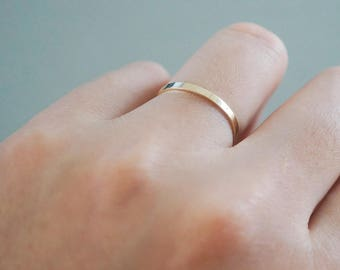 New, 14K Gold Ring, simple ring, solid gold Flat Band, basic design, bridesmaid ring jewelry - TGR007