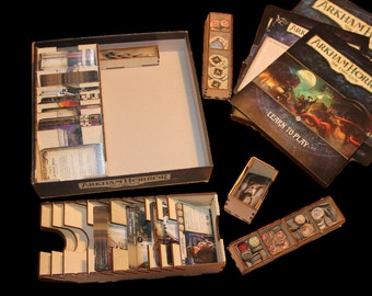Organiser compatible with Arkham Horror - The Card Game Organiser - DIY flatpack, precision laser cut, game storage, easy self assembly.