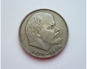 1 ruble, Lenin, Coin, Vintage Money